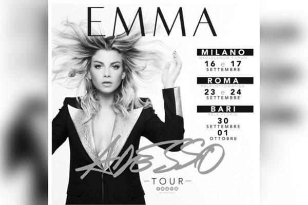 Emma, iniziano le prove dell'Adesso Tour e l'emozione si fa sentire