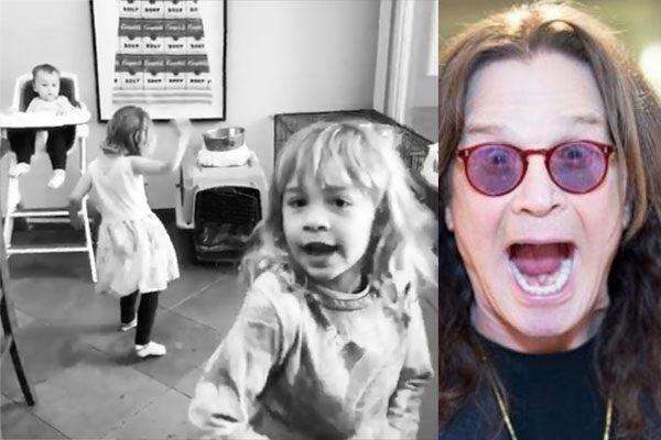 """Ozzy Osbourne: nonno social con le nipotine, balla sulle note di """"Crazy Train"""""""