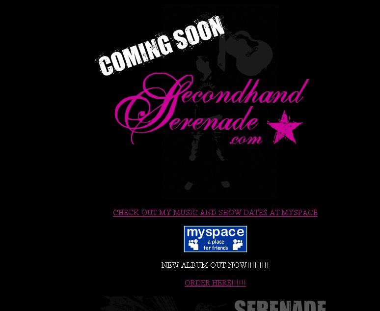 secondhand serenade sito ufficiale di secondhand serenade contenente ...